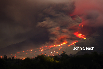 sinabung volcano eruption 2014
