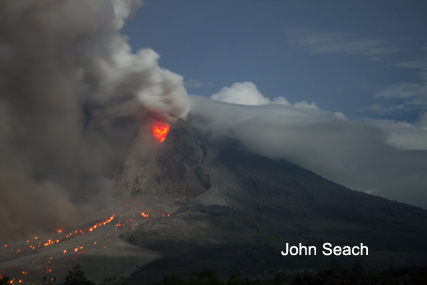 sinabung eruption 2014